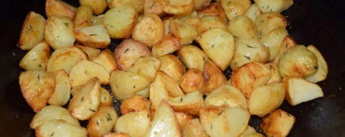 жареный картофель с тимьяном