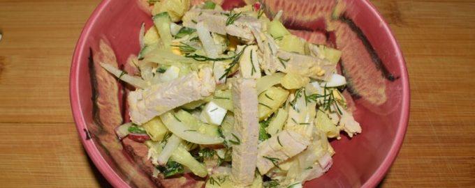 салат окрошка