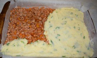 выкладываем картофельное пюре
